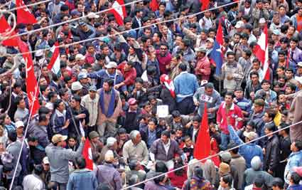 nepalis protest election killing
