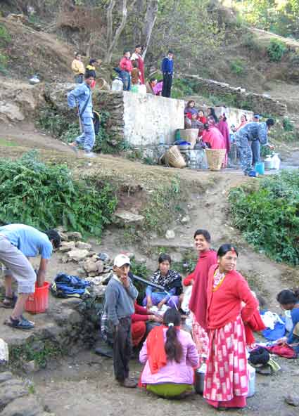 Nepali Maoists stopped the drinking water supply in Dailekh