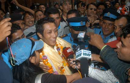 Indian Idol Prashant Tamang in Kathmandu Nepal