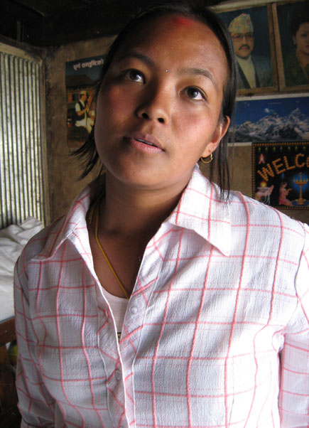 Maya Lama, a girl from Keyul village below Helambu