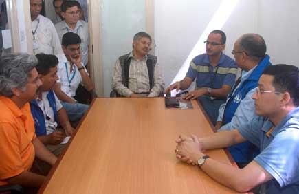 Human Rights team visits Kantipur
