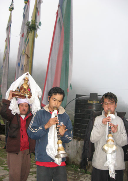 Hindu Festival Dashain Celebrations in a Buddhist Monastery