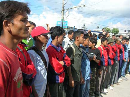 YCL in Kantipur protest