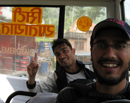 Suraj and Wagle in the Bus