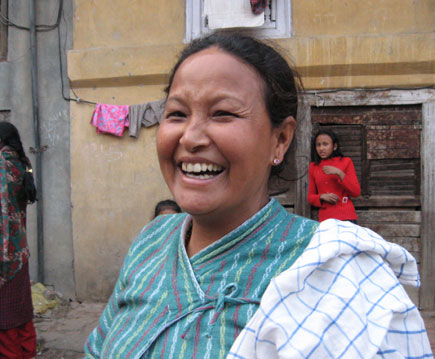 """I have seen him on TV,"" Sarita Maharjan (up and below), 42, a housewife, ..."