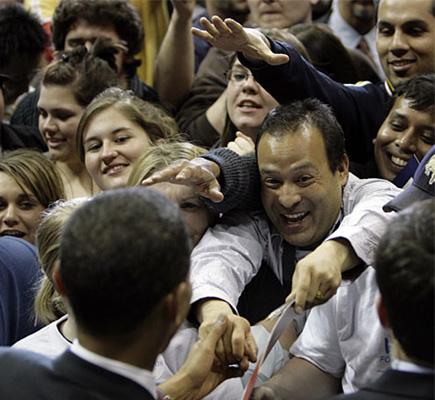 a nepali shaking hands with barack obama