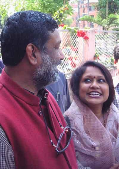 Bimalendra Nidhi with his wife