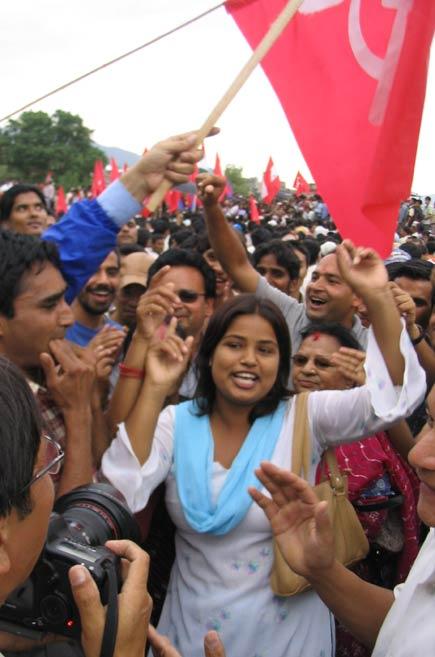 nepal celebrates democracy victory...meena koirala