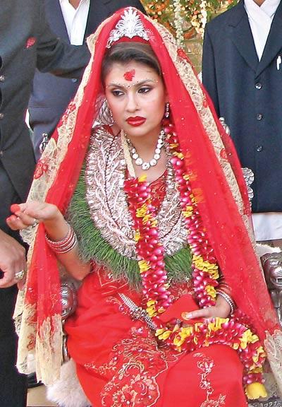 Happy marriage devyani united we blog for Wedding dress nepali culture
