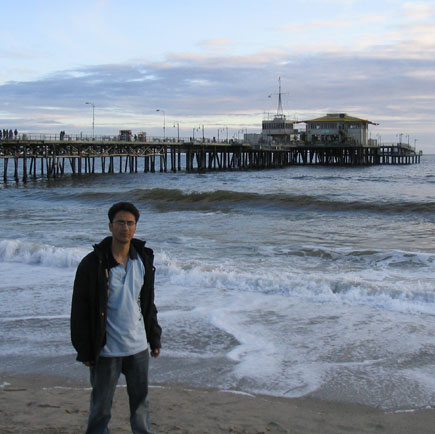 Wagle in Santa Monica Beach