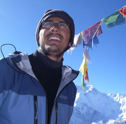 dinesh wagle at kang la pass