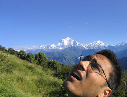Dinesh Wagle on way to Poon Hill