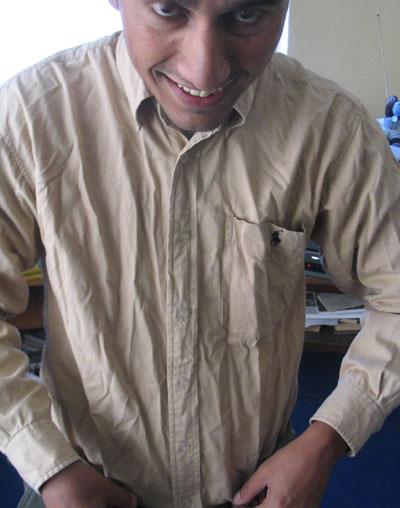 dinesh wagle unpressed shirts