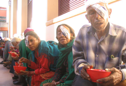 eye camp where magsaysay awardees visited in kathmandu