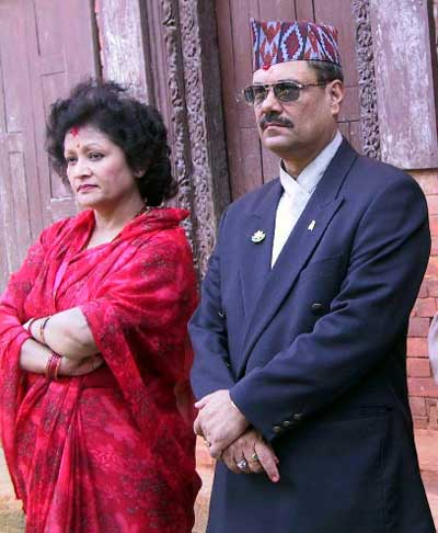 General Thapa with his wife