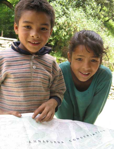 Ghorepani school kids