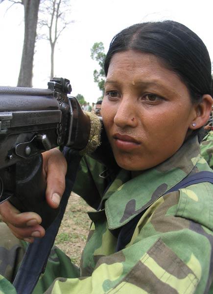 Maoist guerilla girl who was injured in Tansen clash three months ago