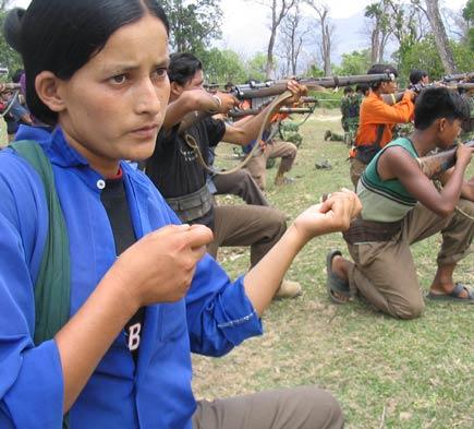 Maoist guerilla girl without a gun