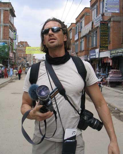 Kevin Sites in Kathmandu