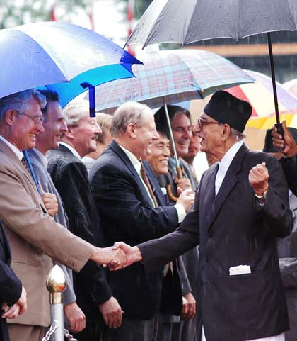 Prime Minister Koirala at Kathmandu International Airport