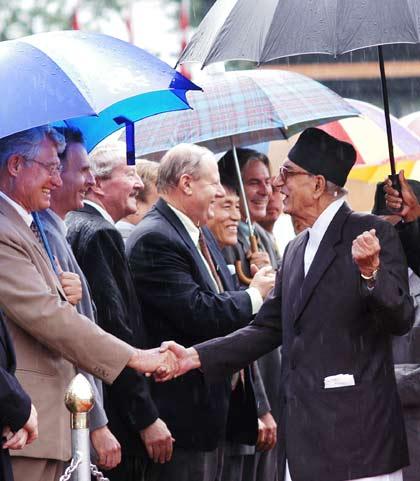 Prime Minister Koirala at Kathmandu International Airport