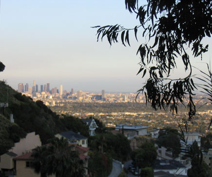 Downtown LA from Beverly Hills