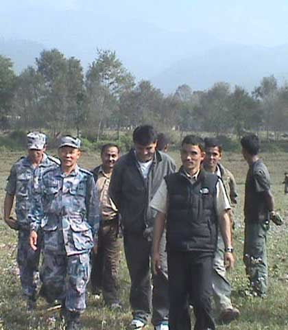 Maoist cantonment site inspection images