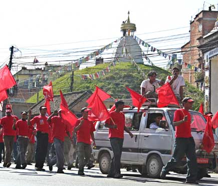 Maoist organize victory rally and mass meeting in Kathmandu