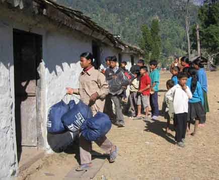 Maoist comrades use school for their shelter