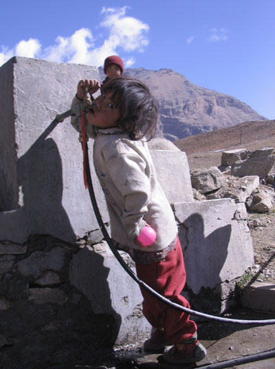Nar girl drinking water