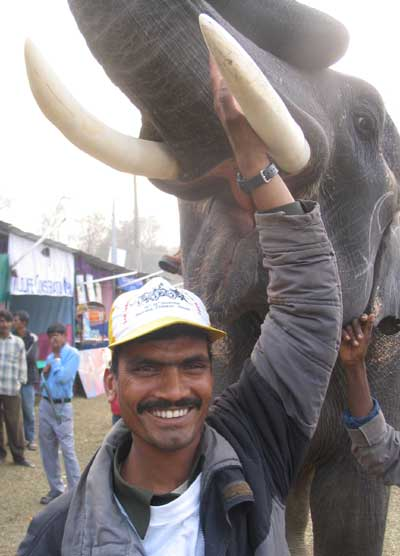 nasir ali elephant rider with janga bahadur