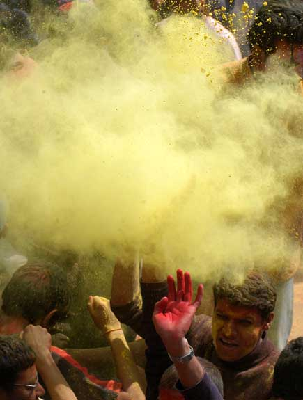 Celebrating Holi, the festival of Color