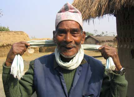 old elephant rider chitwan nepal