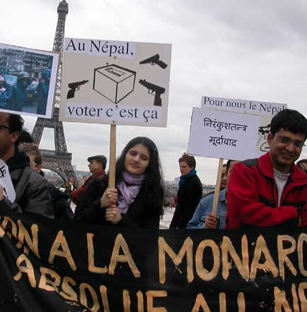 Paris Protests Prince Paras Europe Visit
