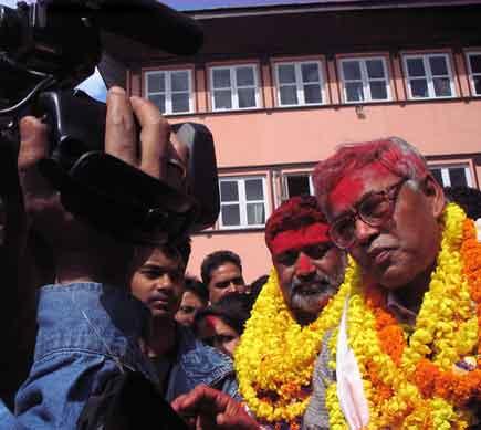 pradeep giri speaks to media