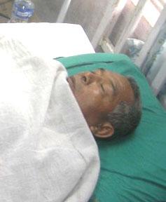 Ram Bahadur Rana undergoes treatment in Midwest Regional Hospital, Pokhara.