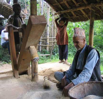 Nepali village story..kailash poudel lefts army job