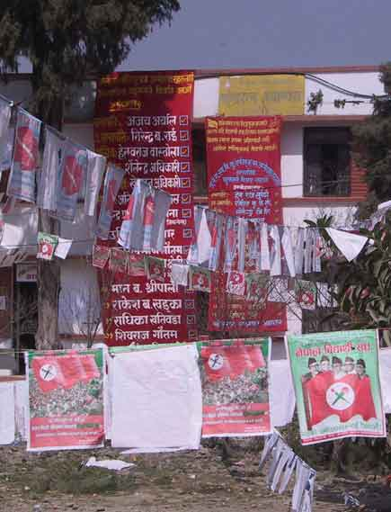 election fever in kathmandu colleges