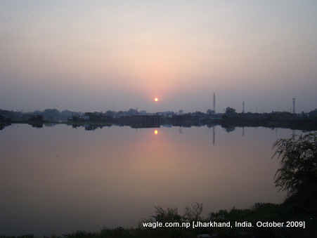Sunset somewhere in Jharkhand or in Uttar Pradesh of India