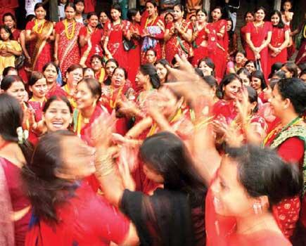 Teej Festival Dancing