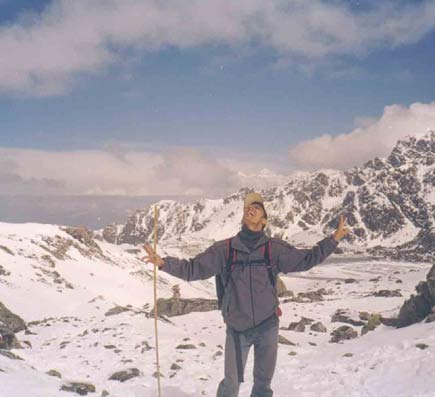 dinesh wagle at gosaikunda pass