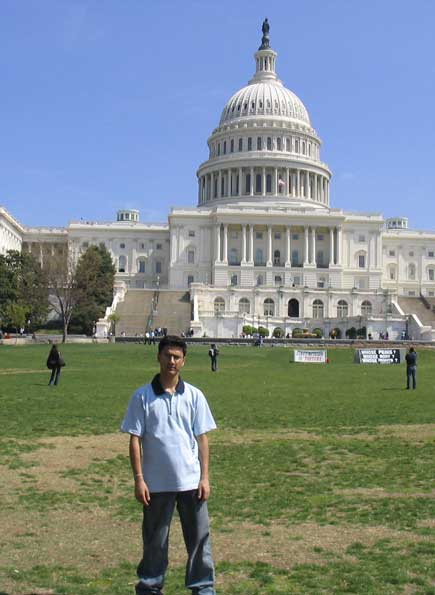 dinesh wagle in front of capitol hill
