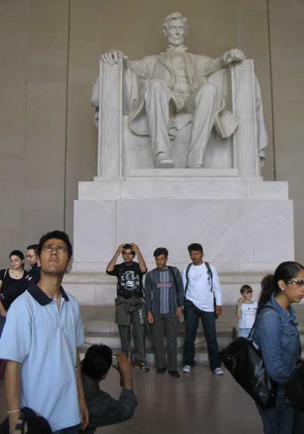 dinesh wagle in lincoln memorial