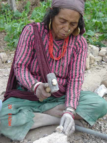 Rolpali woman displaced by the Maoists
