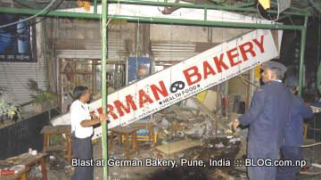 german bakery, pune, india. torn apart