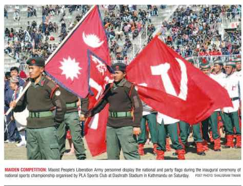 natinal flag of nepal and communists