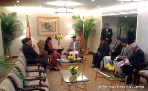 Nepal President visits India
