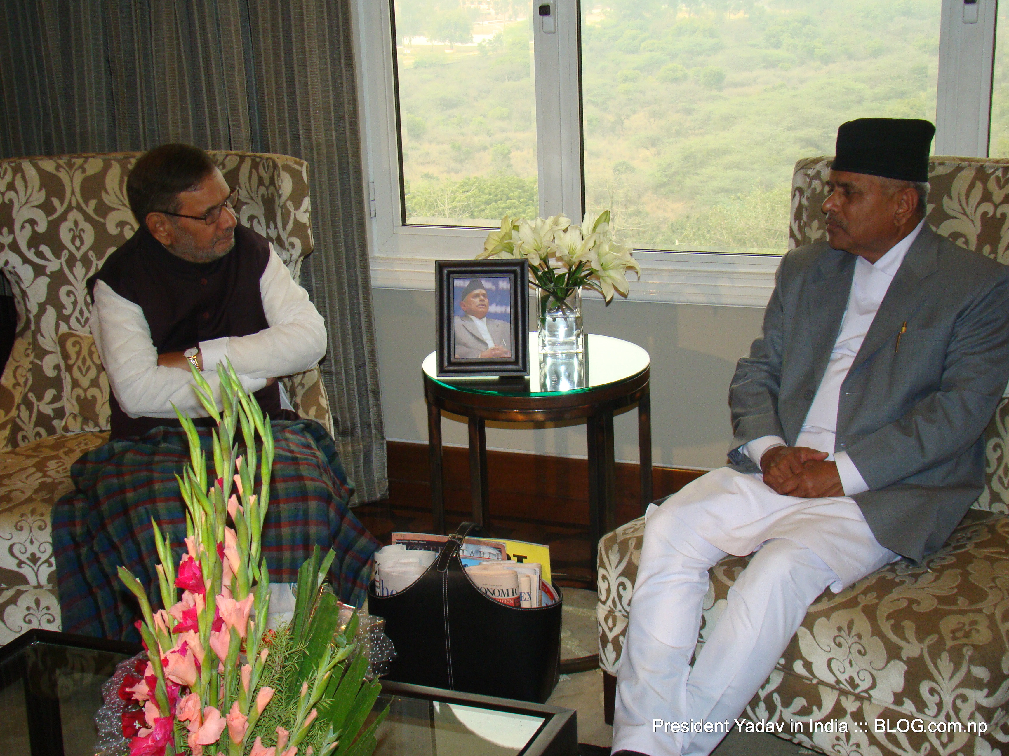 President with Sharad Yadav