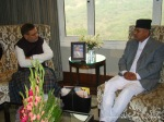 President with Sharad Yadav