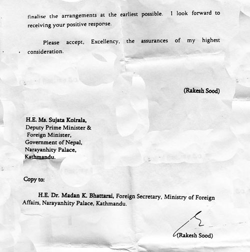 Proof india asked for passport contract from nepal united we blog indian ambassador letter to nepali foreign minister 2 altavistaventures Gallery